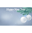 Happy New Year snow background vector image