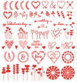 Heart flowers set vector image vector image
