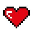 heart pixel love icon vector image vector image