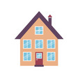 icon colorful house vector image