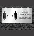 illuminated advertising billboard social distancin vector image vector image