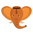 indian elephant ganesha folk icon vector image