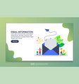 landing page template email information modern vector image