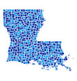 louisiana state map mosaic of pixels vector image