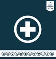 medical cross icon vector image vector image