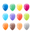 Multi colored balloons vector image