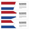 netherlands flag banners collection independence vector image