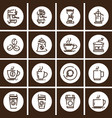 outline web mono symbol icon set - drink vector image vector image