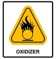 Oxidizing warning symbol vector image vector image
