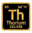 periodic table element thorium icon vector image vector image