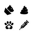 pets vet clinic veterinary medicine simple vector image vector image
