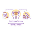 pharmacy concept icon veterinary medication vector image vector image