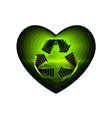 recycle eco valentine day with the sign of the vector image
