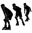 roller skating vector image