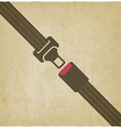 safety belt old background vector image vector image