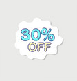 sale tags with sale up to percent text on tags vector image