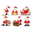 santa claus job activities and duties process vector image