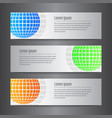 set design world banner template vector image vector image
