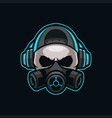 skull mascot logo esport vector image vector image