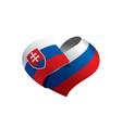 slovakia flag vector image vector image