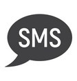 sms glyph icon web and mobile message sign vector image