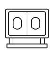 soccer game score board league recreational vector image vector image
