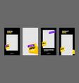 stories template set for sale banner social media vector image vector image