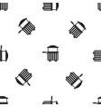 street food cart pattern seamless black vector image vector image