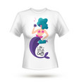 t-shirt mermaids design vector image