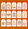 tags with lettering and for vector image vector image
