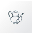 teapot icon line symbol premium quality isolated vector image