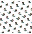 tennis sport shoes pattern pop art style vector image vector image