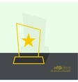 The award star winner vector image vector image