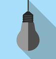 Turned off lightbulb hanging vector image vector image