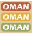 Vintage Oman stamp set vector image vector image