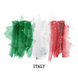 watercolor painting flag of italy vector image vector image