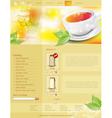 website template tea shop vector image