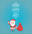 Greeting card or invitation Merry Christmas and vector image