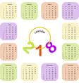 simple colorful calendar vector image
