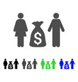 family money deposit icon vector image
