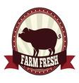 Farm fresh pork resize vector image