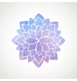 Watercolor lotus flower blue and violet vector image