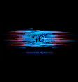 5g wireless connection for technology banner vector image vector image