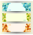 Abstract Flower Background Brochure Template vector image vector image