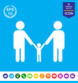 adults with a child - family icon vector image