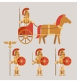 Ancient wariors icons with sword or spear and vector image vector image