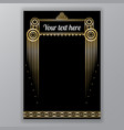 art deco golden black page template vector image vector image