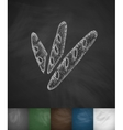baguettes icon Hand drawn vector image vector image