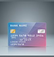 Bank card with reflect card number is random