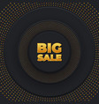 big sale background round with dots vector image